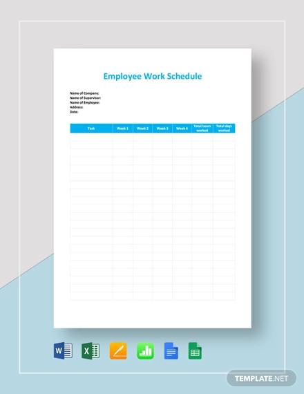 employee work schedule template1