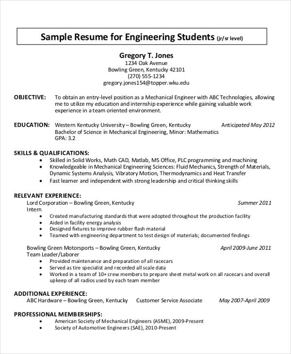 7+ Resume Writing Examples, Samples