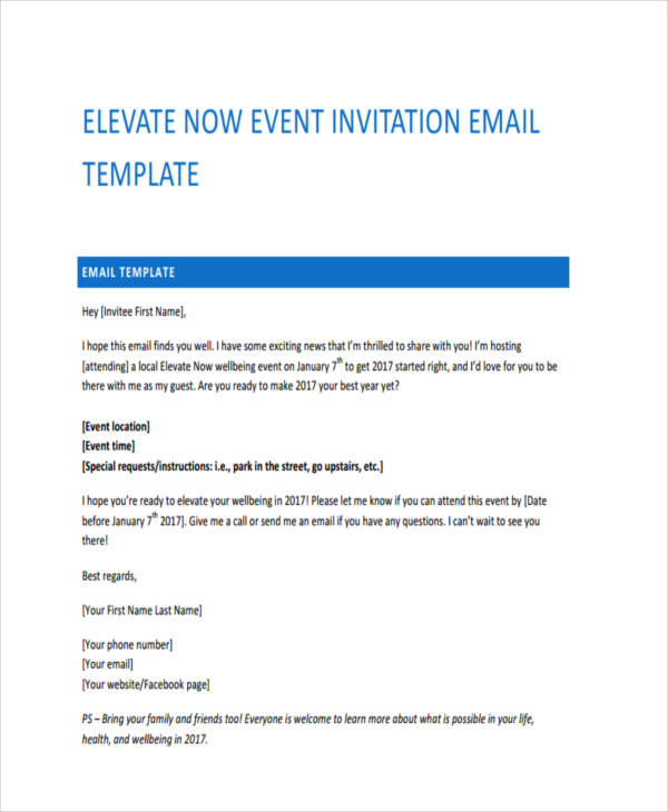 25 email examples samples pdf event invitation stopboris Images