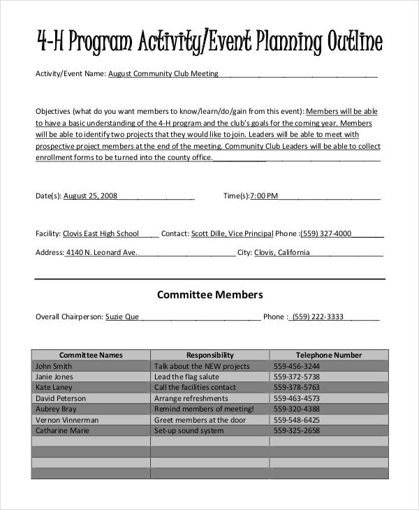 event program planning