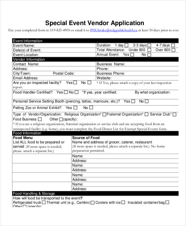 events vendor