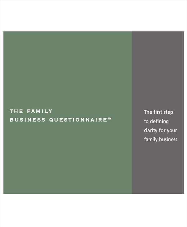 family business questionnaire