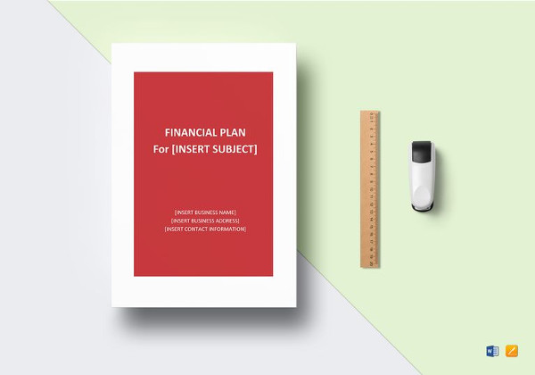 financial plan template to print