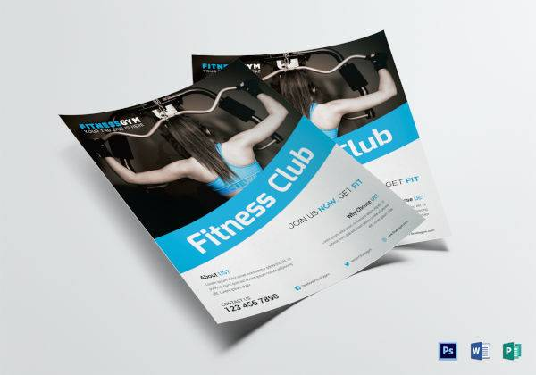 fitness club flyer template 600