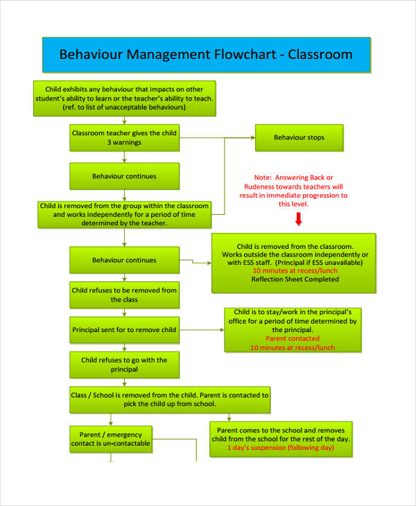 flow chart for classroom management