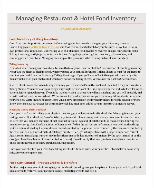 food stocktake restaurant inventory1