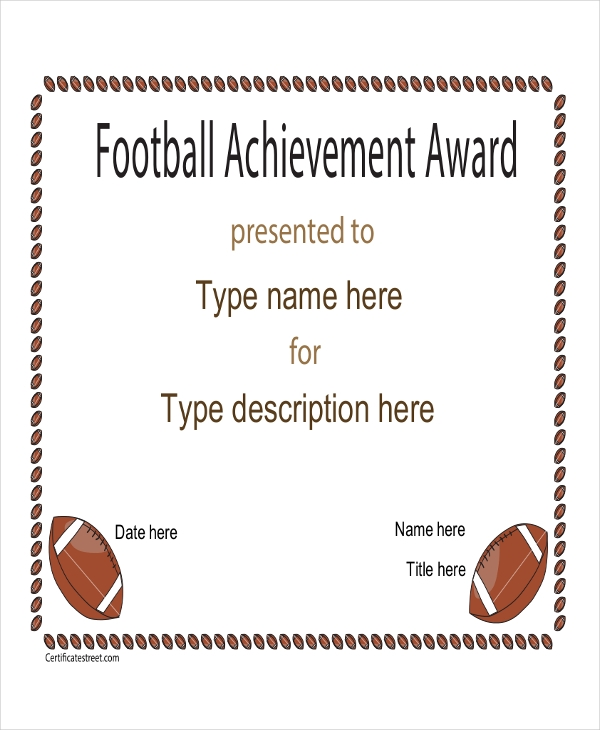 48 examples of certificates in pdf football certificate yelopaper Images