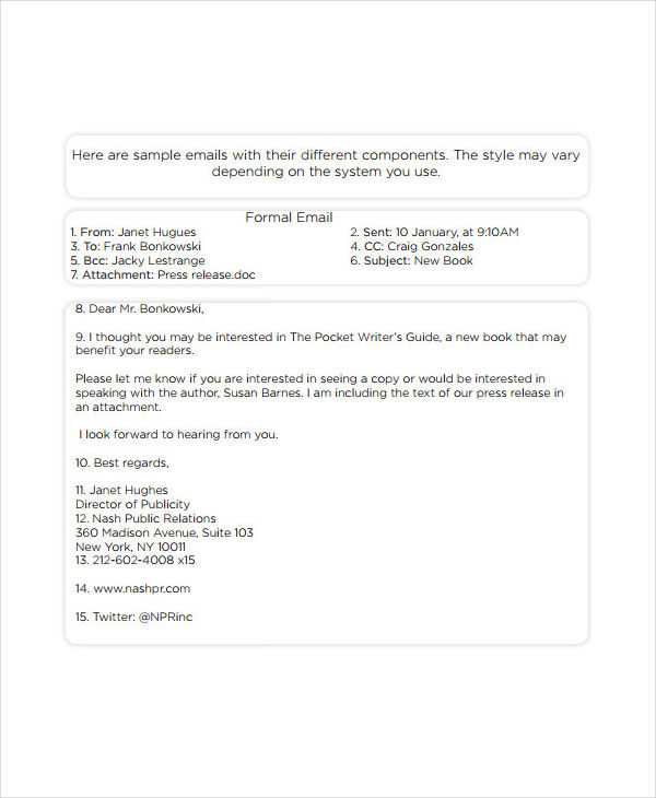 5 Formal Email Examples And Samples Pdf Word