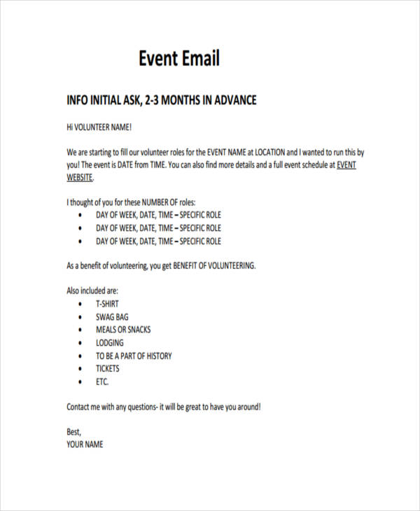 25 email examples samples pdf formal event email m4hsunfo