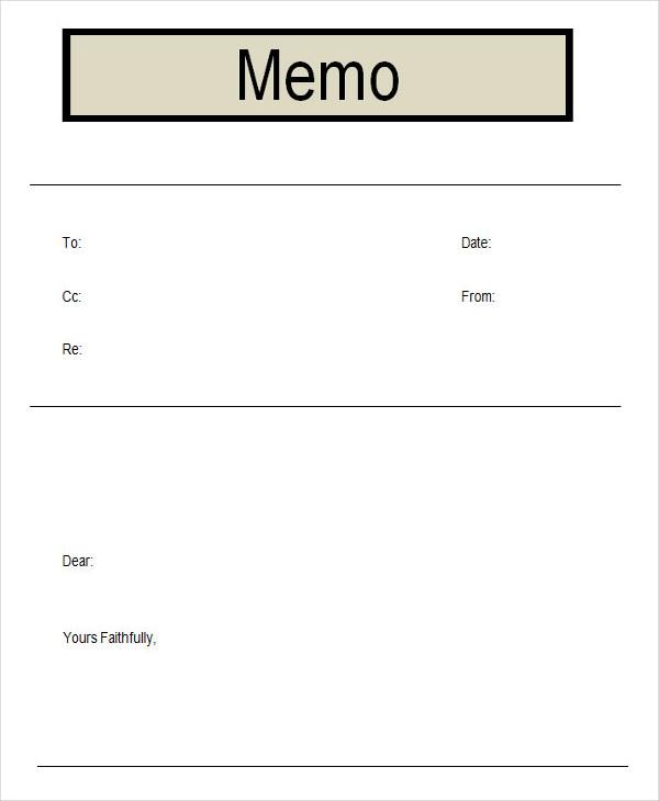 free blank memo