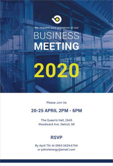 free business meeting invitation example1