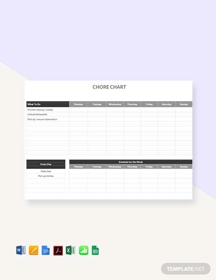 Chore Chart Excel Template from images.examples.com