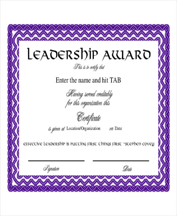 27 award certificate examples samples