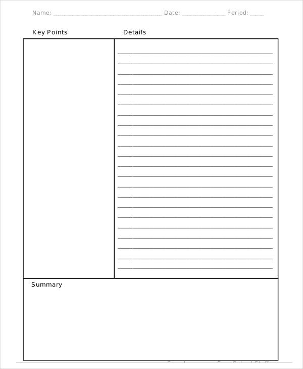 8  cornell note examples  u0026 samples