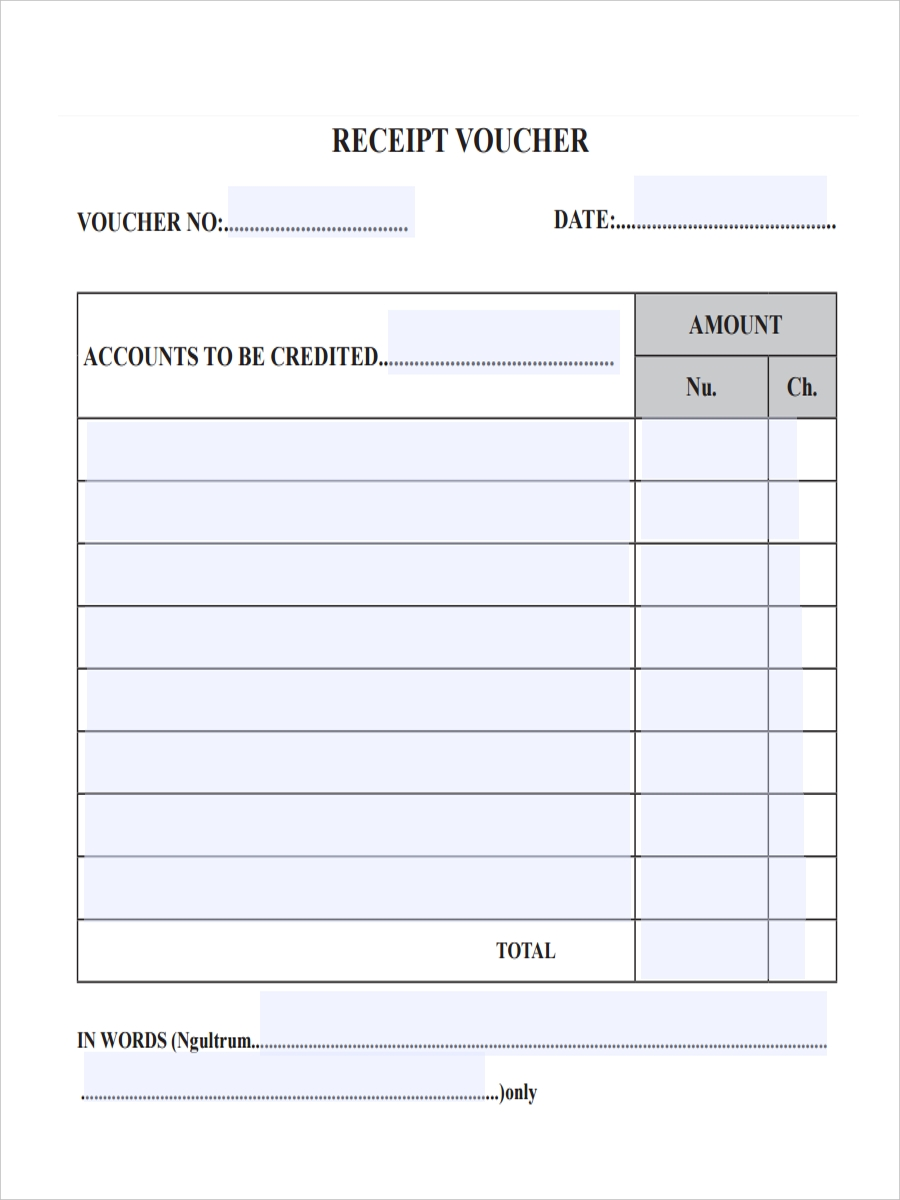 Superior Receipt Voucher Template