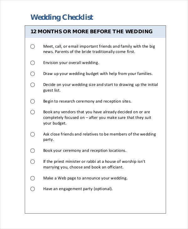 free wedding checklist1