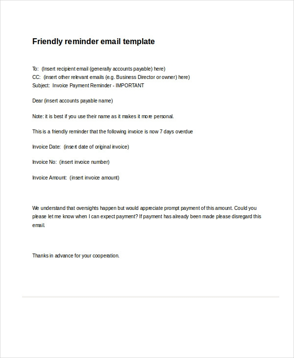 16 professional email examples pdf doc professional reminder email friendly reminder flashek Gallery