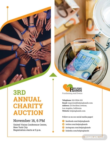 fundraising event flyer template