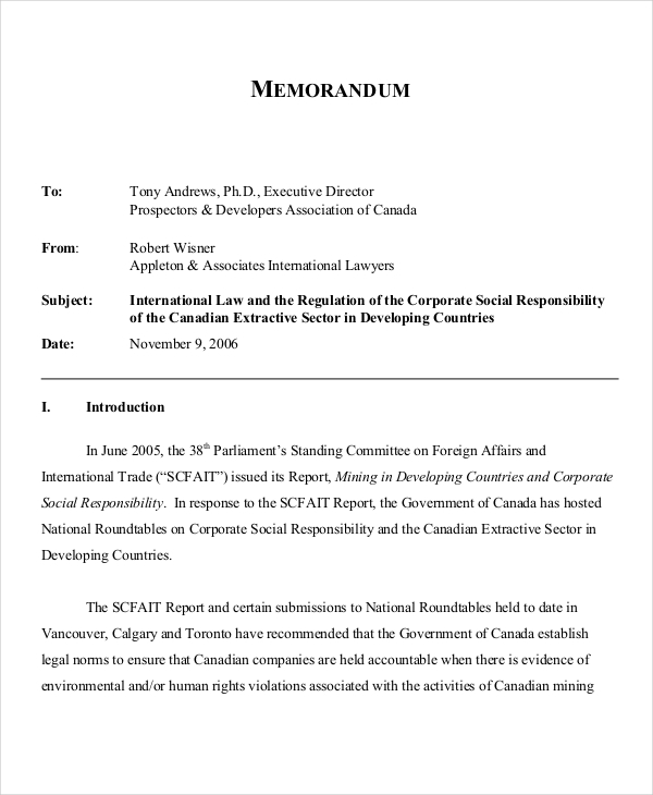 6 Legal Memo Examples Samples – Legal Memo Template