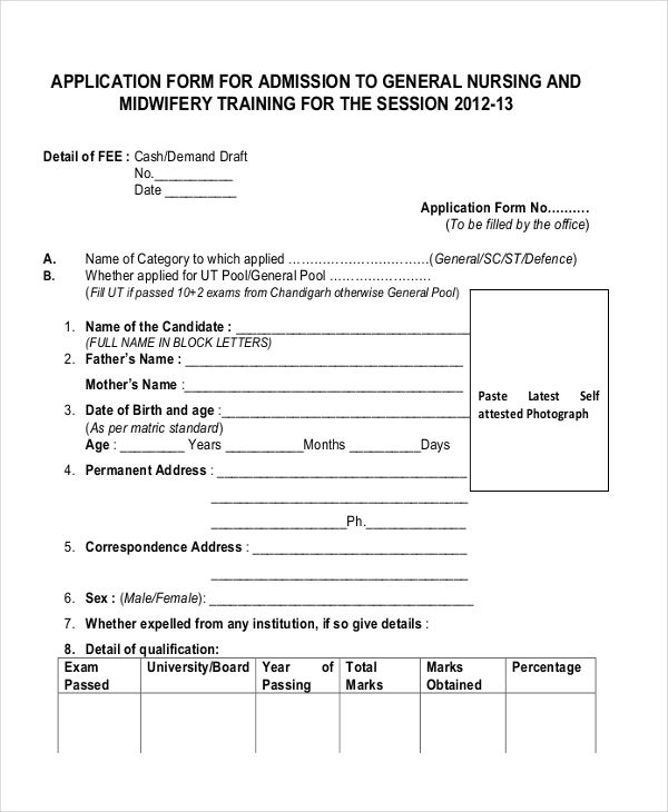 General-Nursing-Application Job Application Form Sample Pdf on print out, panera bread, printable basic, pizza hut, dollar tree, dunkin donuts, letter format sample,