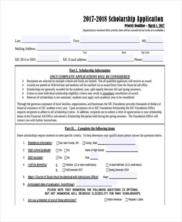 general scholarship