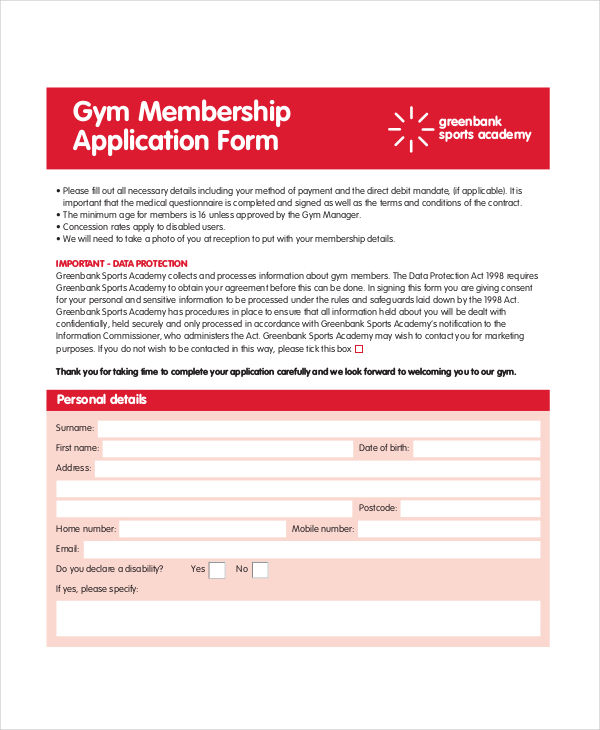 gym application