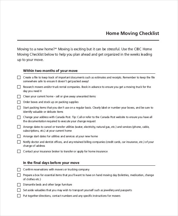 Office Relocation Checklist Excel  BesikEightyCo