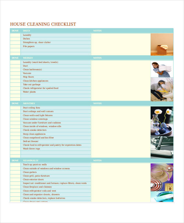house cleaning checklist1