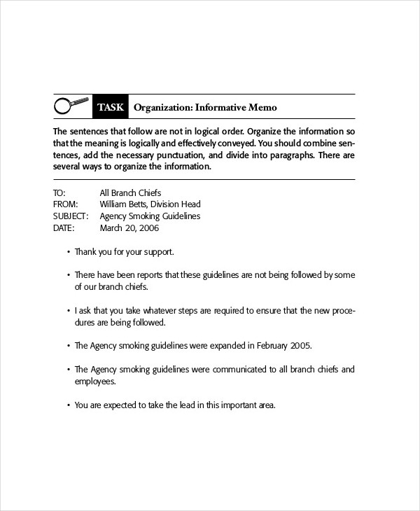 17 business memo examples samples pdf doc informative memo for business accmission Image collections