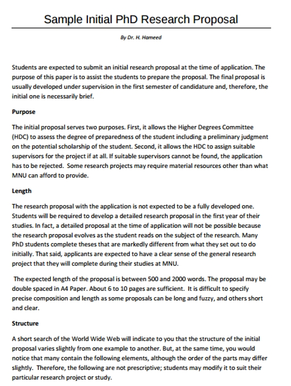 A phd research proposal