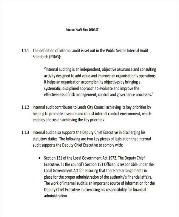 Audit memo example 1 2