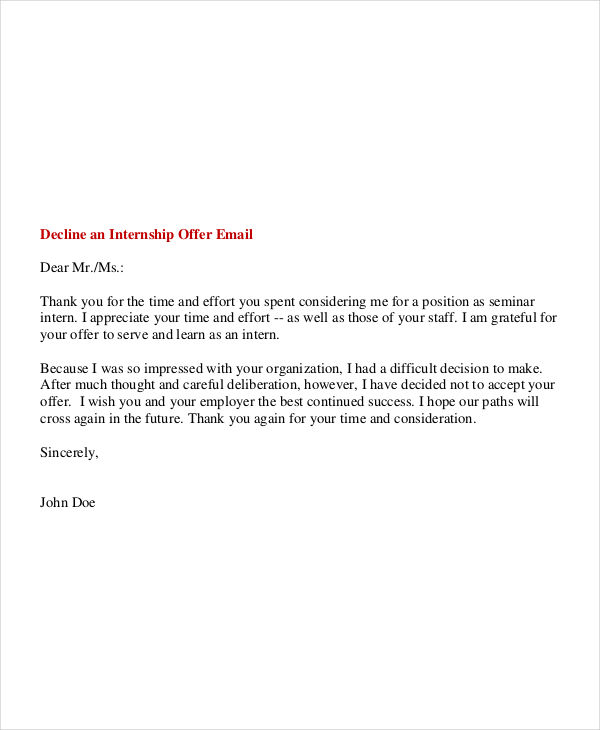 6  internship email examples  u0026 samples