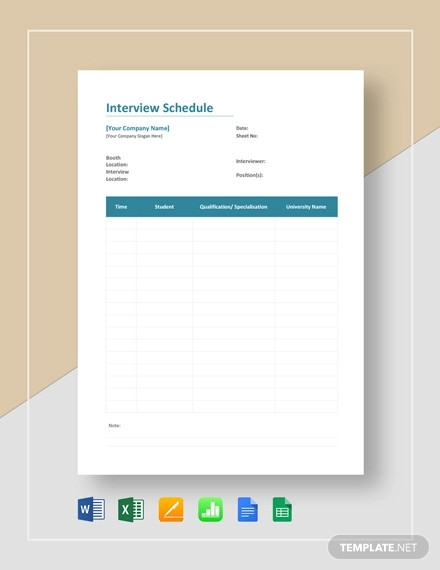 interview schedule template1