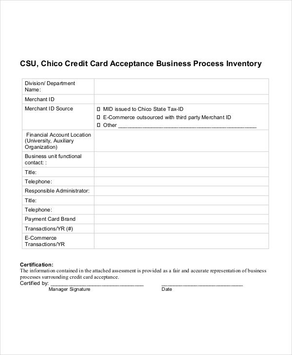 inventory for business process