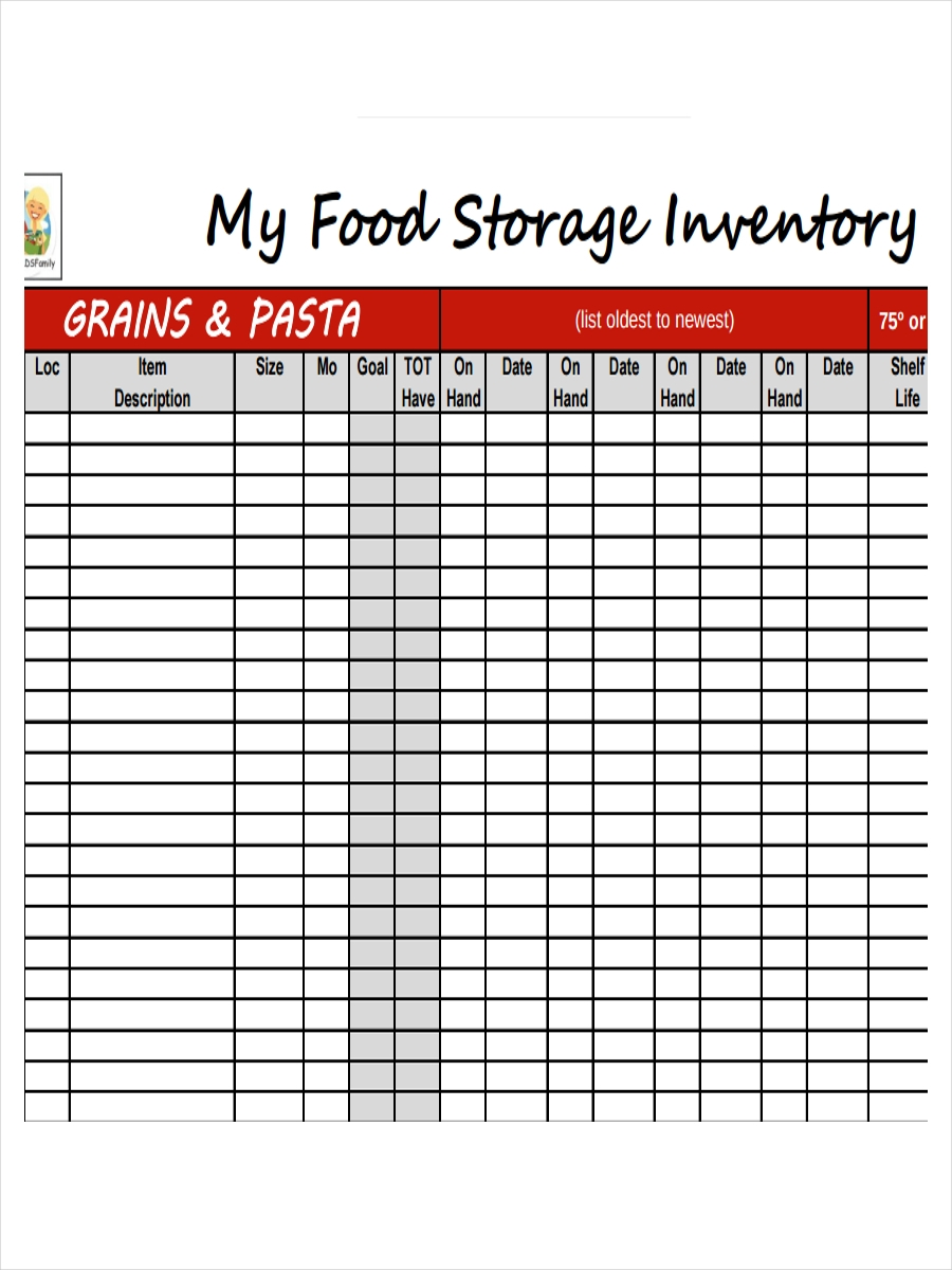 inventory for fast food storage