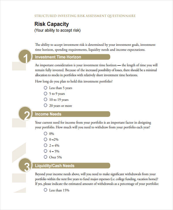 investing risk assessment