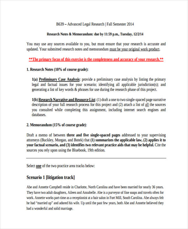 8 research memo examples samples legal research memo sample pronofoot35fo Choice Image