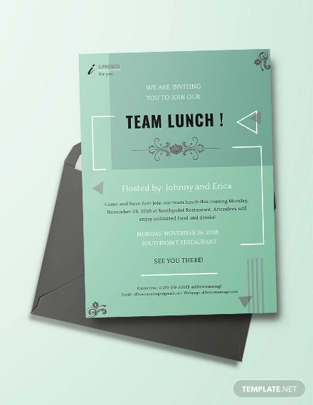 lunch invitation design