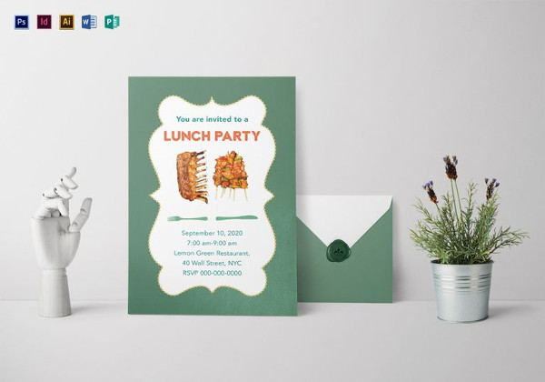 lunch party invitation template