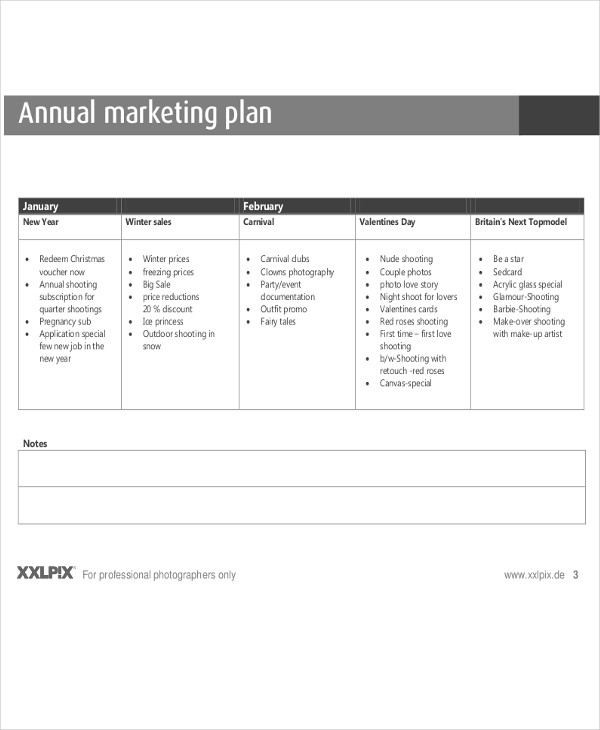 marketing annual plan