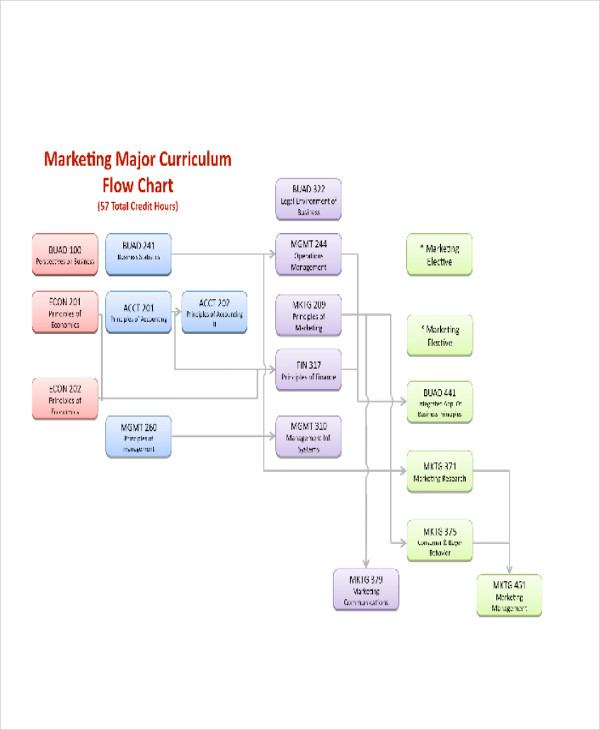 marketing curriculum flow chart