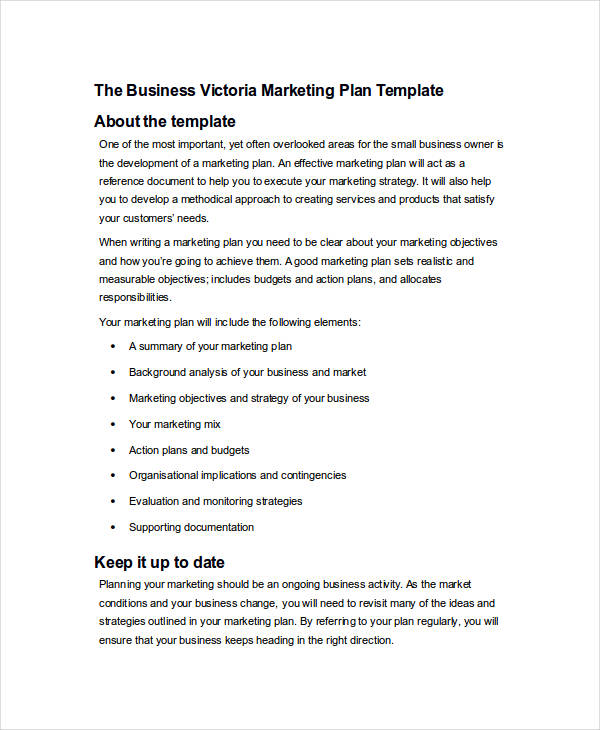 marketing plan example1