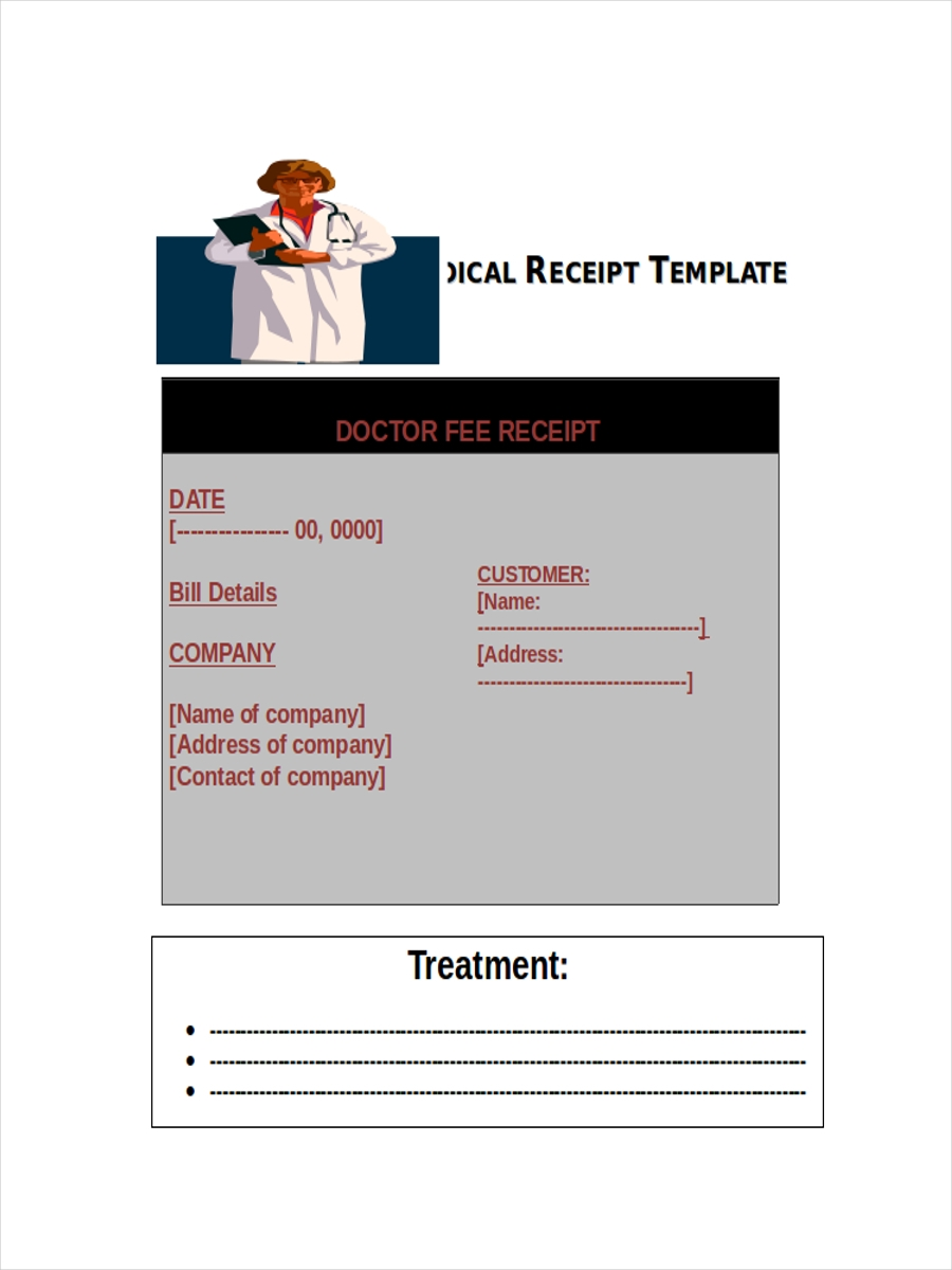 5 Medical Receipts Examples Samples
