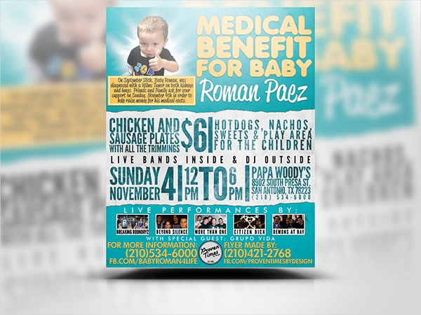 medical fundraiser flyer