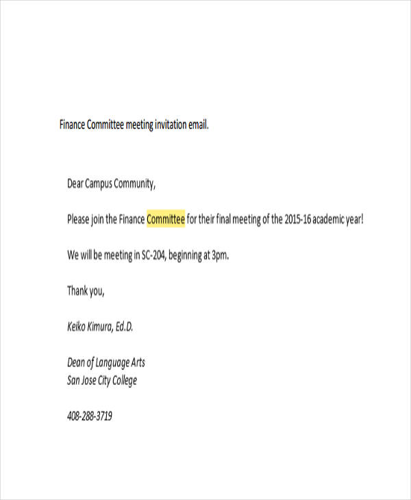 7 meeting email examples pdf meeting invitation email thecheapjerseys Gallery
