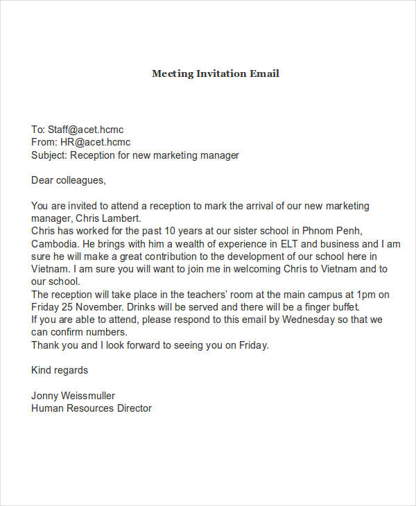 email template to request a meeting - 10 invitation email examples samples pdf word