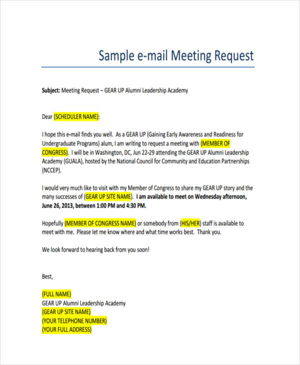 25 email examples samples pdf meeting request m4hsunfo