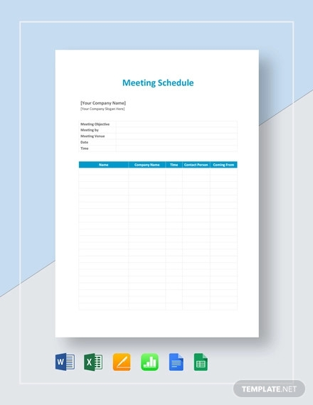 meeting schedule template1