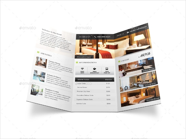 modern hotel brochure