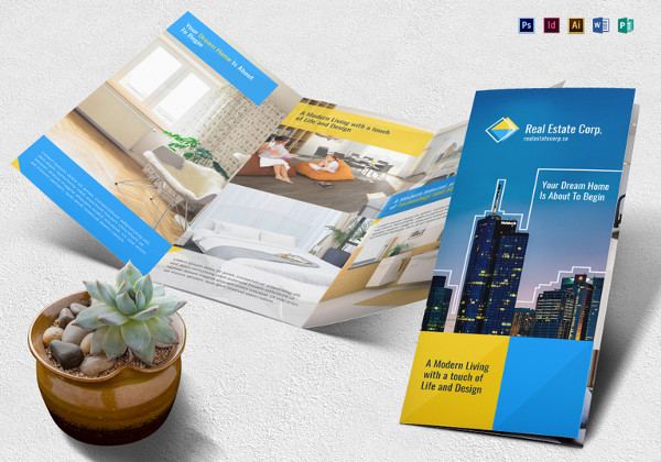 modern real estate brochure template